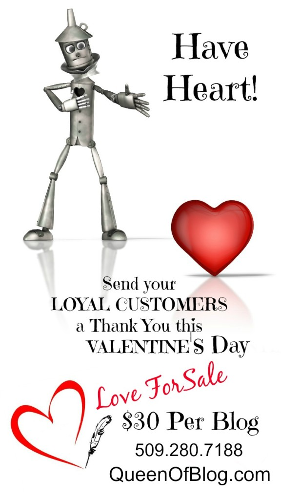 Valentine's Day Tin Man Has Heart